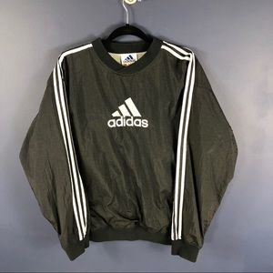 Vintage Adidas Pull Over Black MED  Logo 3 stripe